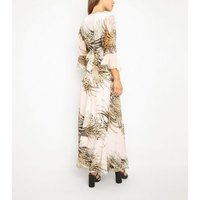 Port Boutique Pink Animal Print Maxi Dress New Look
