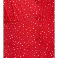 Red-Spot-Button-Front-Tea-Dress-New-Look