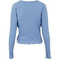Blue Ribbed Cardigan and Cami Set New Look