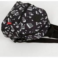 Artsac Black Geometric Print Backpack New Look