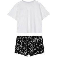 White Dalmatian Spot Short Pyjama Set New Look