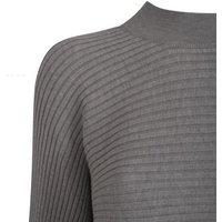Pale Grey Ribbed High Neck Jumper New Look