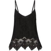 Black Crochet Cami New Look