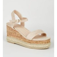 Cream Espadrille Flatform Sandals New Look
