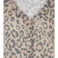 Brown Leopard Print Fine Knit Cardigan New Look