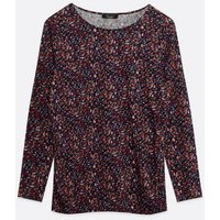 Maternity Multicoloured Floral Jersey V Neck Top New Look