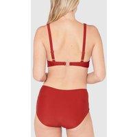 Beachcomber Orange Twist Front Bikini Top New Look