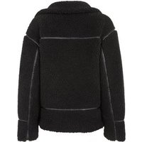 Black Teddy Aviator Coat New Look