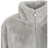 Pale Grey Faux Fur High Neck Jacket New Look