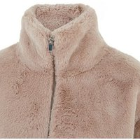 Mink Faux Fur High Neck Jacket New Look