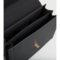 Black Leather-Look Cross Body Bag New Look Vegan