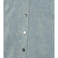 Sunshine Soul Pale Blue Suedette Mini Skirt New Look