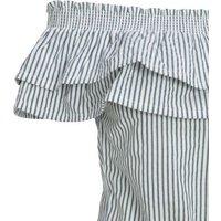 Sunshine Soul Navy Stripe Bardot Top New Look