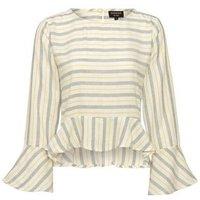 Sunshine Soul White Stripe Peplum Top New Look