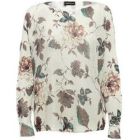 Cameo Rose Off White Butterfly Print Jumper New Look