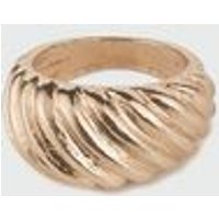 Gold Croissant Ring New Look
