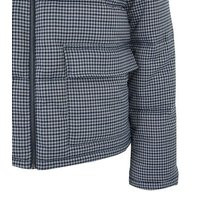 Light Grey Check Utility Puffer Jacket New Look