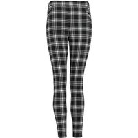 Girls Black Check Buckle Slim Fit Trousers New Look