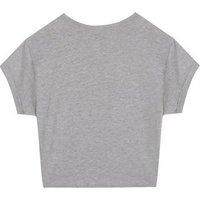 Girls Grey Plastic Straws Suck Slogan T-Shirt New Look