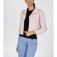 Pink Vanilla Pink Puff Sleeve Boxy Jacket New Look