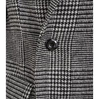 Men's Grey Check Double Breasted Formal Coat New Look