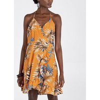 Pink Vanilla Orange Tropical Halterneck Dress New Look