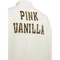 Pink Vanilla Cream Camo Logo Back Jumper New Look