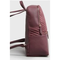 Burgundy Suedette Quilted Laptop Backpack New Look Vegan