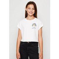 Girls White Rainbow Slogan Charity T-Shirt New Look