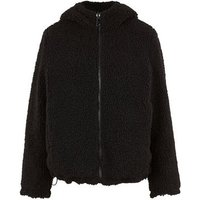 Black Puffer and Teddy Reversible Coat New Look