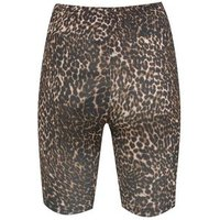 Brown Leopard Print Cycling Shorts New Look