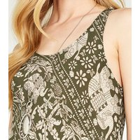 Apricot Olive Elephant Print Maxi Dress New Look