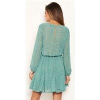 AX Paris Mint Green Spot Chiffon Dress New Look