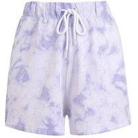 Pale Blue Tie Dye Shorts New Look