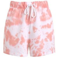 Mid Pink Tie Dye Shorts New Look