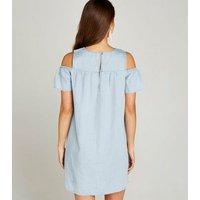 Apricot Pale Blue Cold Shoulder Mini Dress New Look