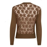 Blue Vanilla Brown Floral Lace Back Cardigan New Look