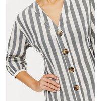 Blue Vanilla Navy Spot Twist Maxi Dress New Look