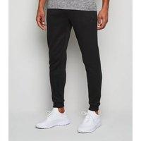 Men's GymPro Black Cotton Blend Sports Joggers New Look