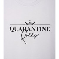 Girls White Slogan Quarantine Queen T-Shirt New Look