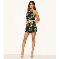 AX Paris Navy Tropical Playsuit New Look