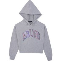 Girls Grey Malibu Collegiate Slogan Hoodie New Look