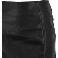 Black Leather-Look Mini Skirt New Look Vegan