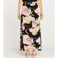Apricot-Black-Floral-Print-Belted-Maxi-Skirt-New-Look