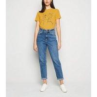 Mustard Mystic Face Print T-Shirt New Look