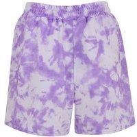Cameo Rose Purple Tie Dye Shorts New Look