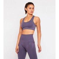 GymPro Grey Seamless Sports Bra New Look