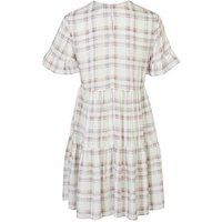Lilac Check Frill Sleeve Smock Dress New Look