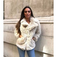 Urban Bliss Stone Faux Fur Jacket New Look