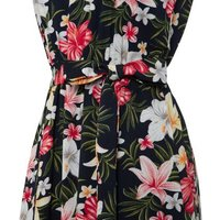 Mela Navy Floral Maxi Dress New Look